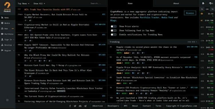 crypto panic - aggregator berita crypto untuk analisa