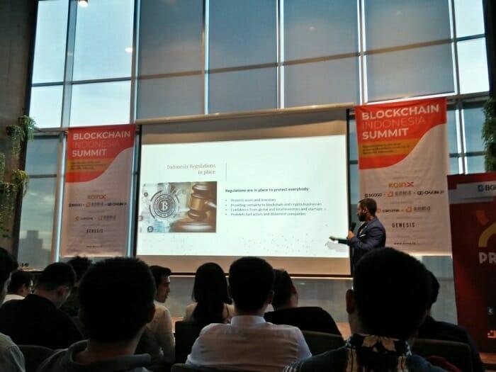 Vijay Grag - CEO Koinx di Indonesia Blockchain Summit