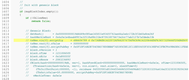 bitcoin genesis block