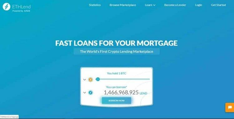 Ethlend - crypto loans