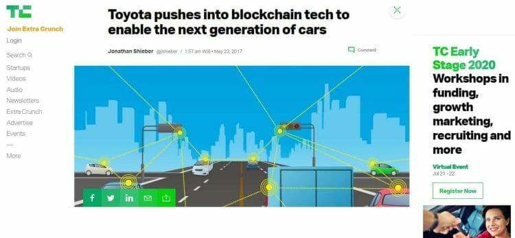 Blockchain otomotif untuk mobil